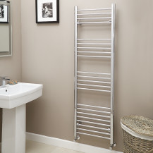 Eco Heat 1600 x 500mm Straight Chrome Heated Towel Rail