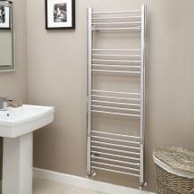 Eco Heat 1600 x 600mm Straight Chrome Heated Towel Rail