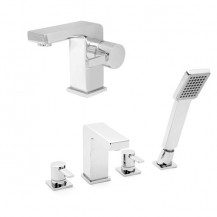 Andra 4 Hole Bath Shower Mixer Pack