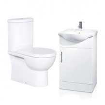Rovigo Toilet & 45 White Vanity Basin Unit