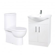 Rovigo Toilet & 55 White Vanity Basin Unit