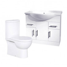 Rovigo Toilet & 85 White Vanity Unit