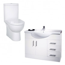 Rovigo Toilet & 105 White Vanity Unit