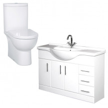 Rovigo Toilet & 120 Vanity Basin Unit