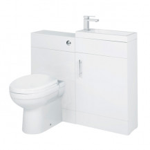 Aspen™ Compact 50 White Basin Vanity Unit Suite