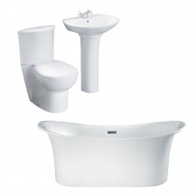 Torrelino Prima Bathroom Suite with Taps