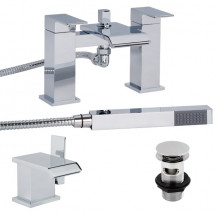 Aqua™ Waterfall Tap Pack with Basin Waste