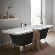 Athena Black 1700 x 750 Freestanding Bath