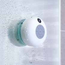 White Bluetooth Splashproof  Speaker