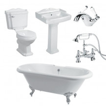 1700 Traditional Victoriana 1TH Double Ended Bath Suite Deal