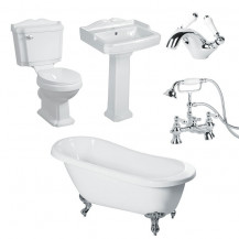 1700 Traditional Victoriana 1TH Slipper Bath Suite Deal