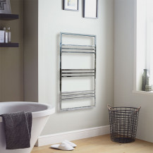 Ravello 1200 x 500 Chrome Towel Rail
