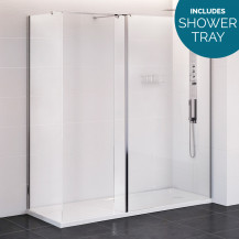 Trinity Premium 10mm 1600 x 800 Walk In Enclosure with Shower Tray
