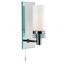 Chrome Mirror Backplate LED Wall Light
