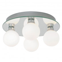 Chrome Globe Opal Glass LED Ceiling Light