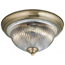 American Diner Antique Brass Ceiling Light