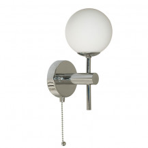 Opal Glass Chrome Wall Light