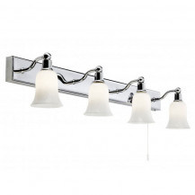 Chrome Frosted Shade Wall Light