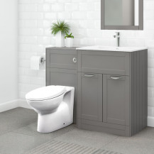 Nottingham 600 Grey Combination Unit with Sofia Back to Wall Toilet