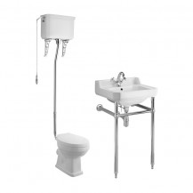 Park Royal™ High Level Traditional Toilet & 500 Basin Suite inc Washstand