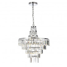 Layla Chisel Cut Crystal Chandelier