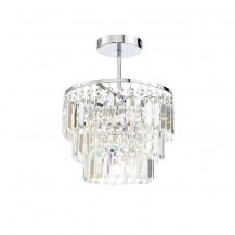 Layla Chisel Cut Crystal Ceiling Light
