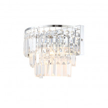 Layla Chisel Cut Crystal Wall Light