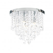 Ohio Iris Medium Clear Crystal Flush Ceiling Light