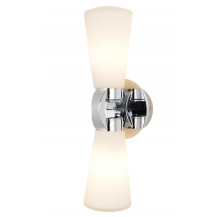Kirby Duo Chrome Glass Wall Light