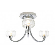 Abra 3 Arm Chrome Ceiling Light
