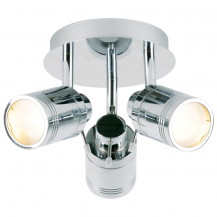 Tauros Chrome Trio Ceiling Spotlight