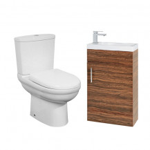 Micro Aspen 50 Walnut Cloakroom Furniture Pack