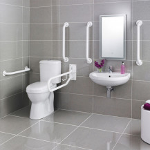 Doc M White Two Piece Bathroom Suite