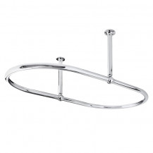 Luxury Chrome 640 x 350 x 1140mm Shower Curtain Ring