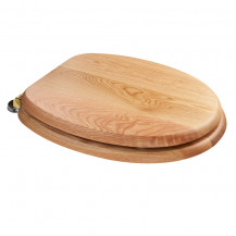 Sit Tight Bloomfield Solid Oak Toilet Seat with Brass Hinges