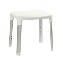 Large White Adjustable Shower Stool