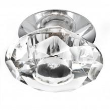 Chrome Diamond Shaped Glass Ceiling Light