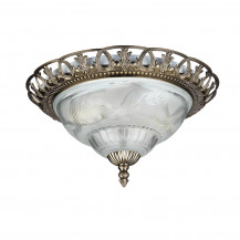 Traditional Antique Brass Flush Ceiling Light