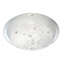 Frosted Patterned Glass Flush Ceiling Light