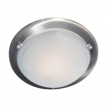 Jupiter Satin Silver Flush Ceiling Light