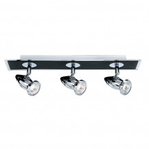 Comet Matt Black Chrome Backplate Bar Spotlight