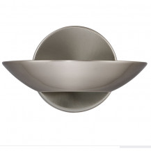 Satin Silver Halogen Wall Light