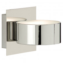 Circular Chrome Wall Light
