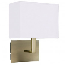 Bronze & White Rectangular Wall Light