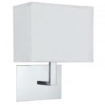 Chrome & White Rectangular Wall Light