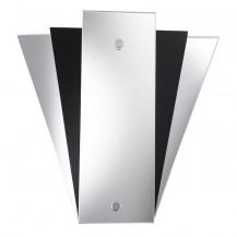 Mirror Black Fan Style Wall Light