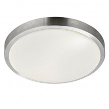 Aluminium Chrome Trim Flush Ceiling Light