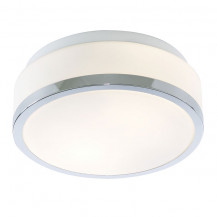 Chrome Trim Flush Ceiling Light