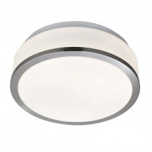 Satin Silver Trim Flush Ceiling Light