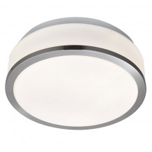 Satin Silver Trim Large Flush Ceiling Light